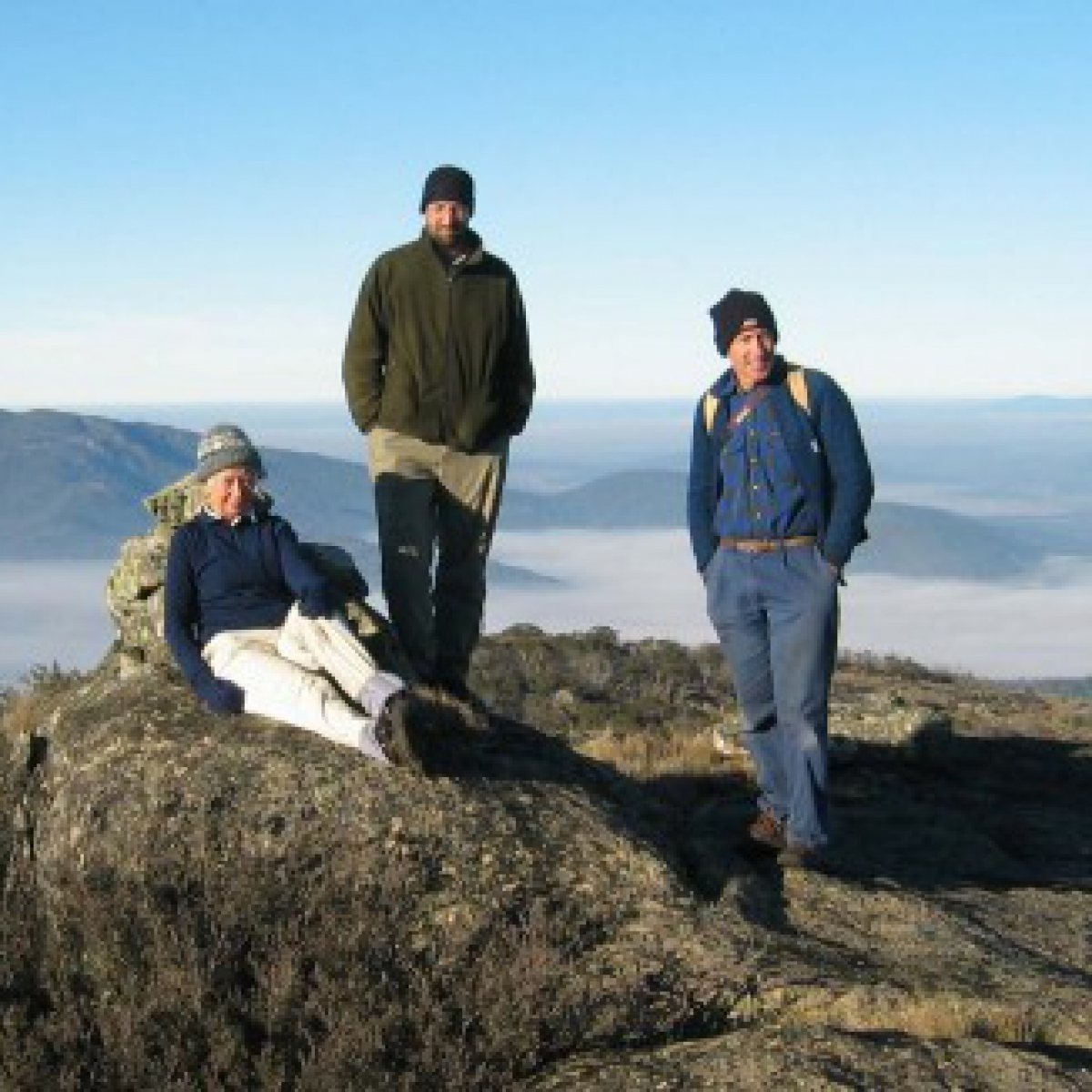 Judith, Mike & Phillip atop Mt Scabby - May 2005