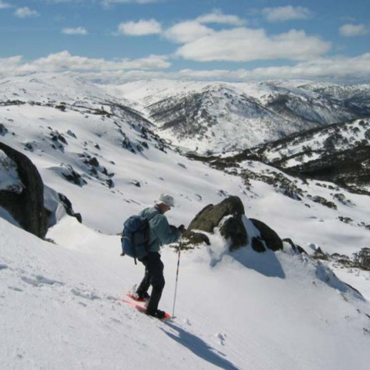 Brian desending The Paralyser, Kosciuszko National Park
