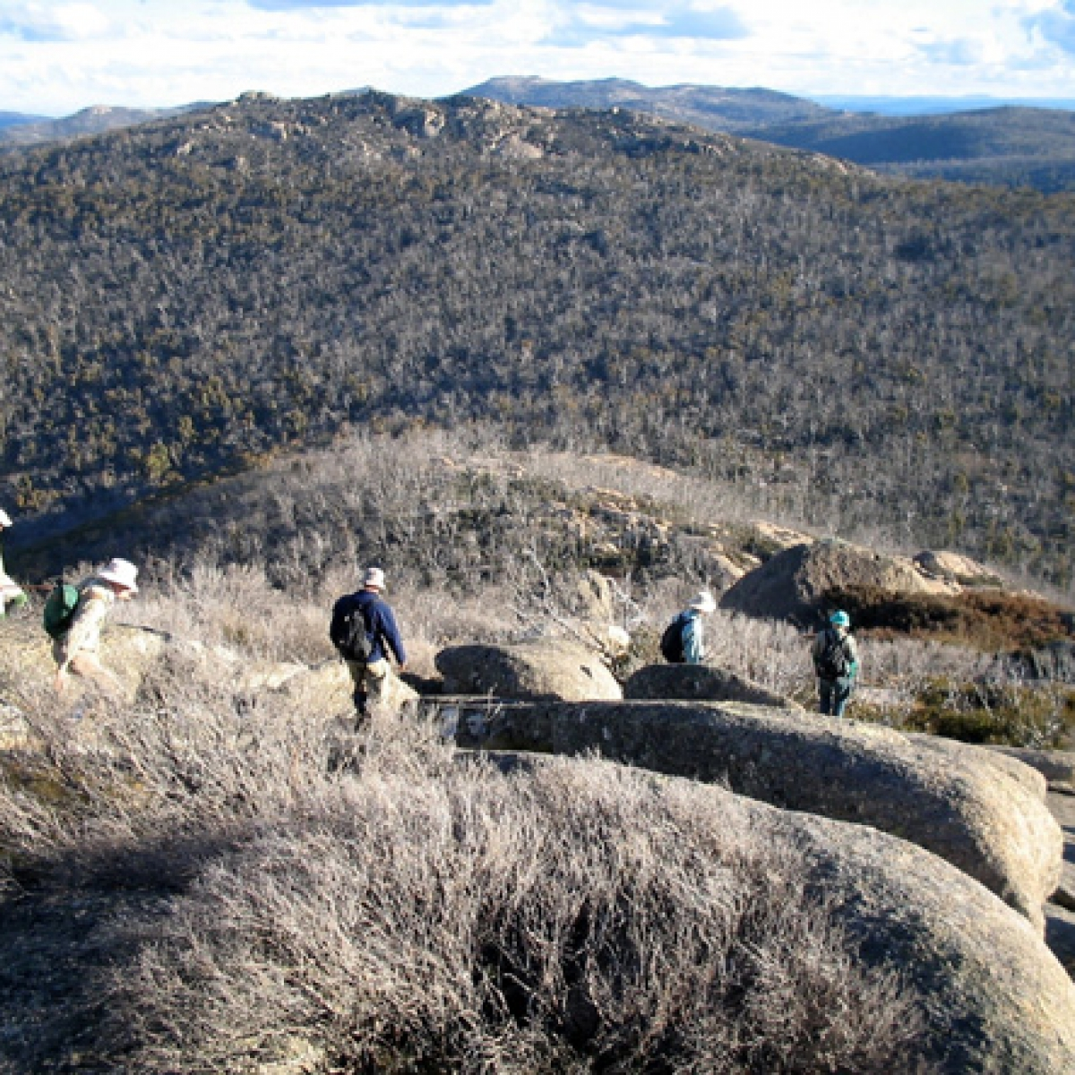 Descending from Mount Burbidge, Namadgi NP - May 2006