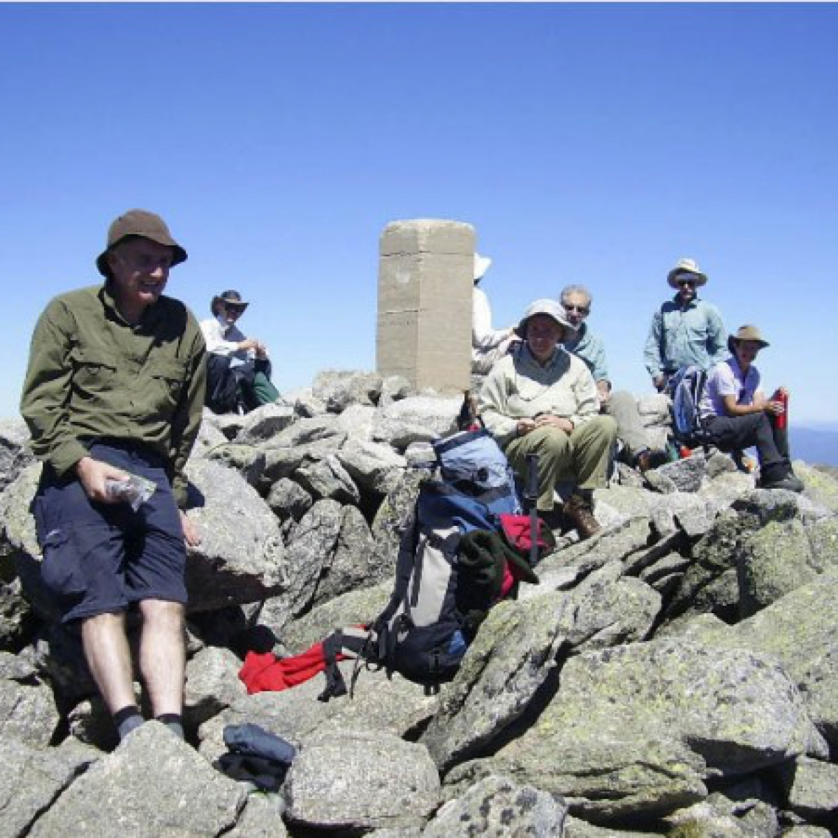 NPA group atop Mount Townsend