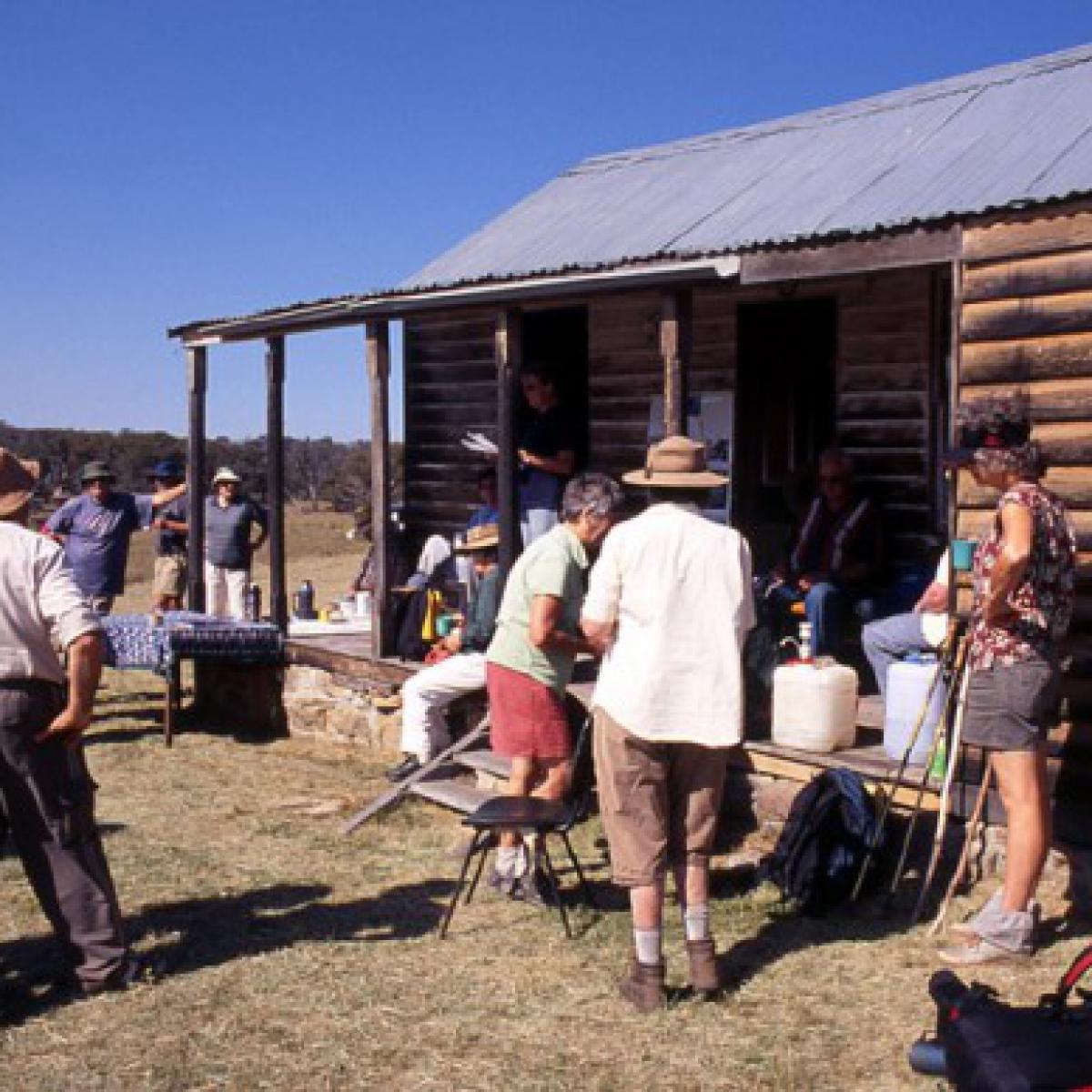 A combined NPA/KHA visit to Davey's Hut