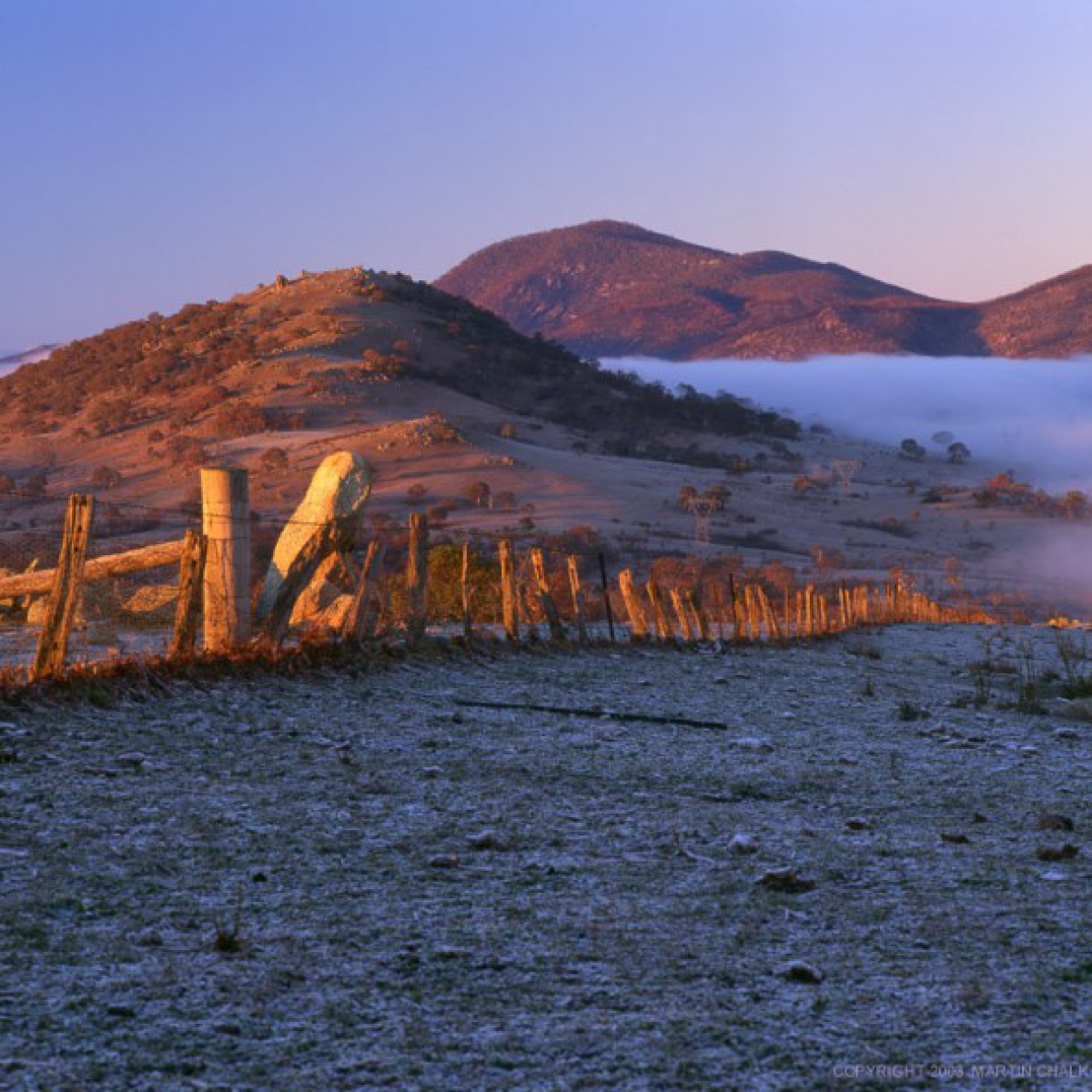 Frost and fog above the Murrumbidgee River