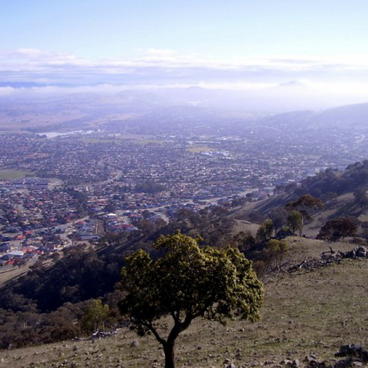 Southern Canberra from Mount Rob Roy