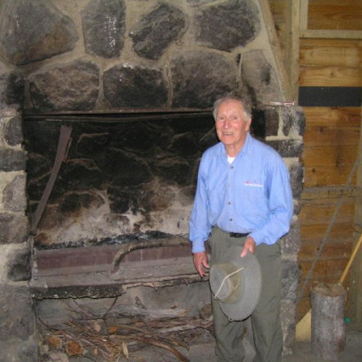 Frank Clements in Frank and Jack's Hut